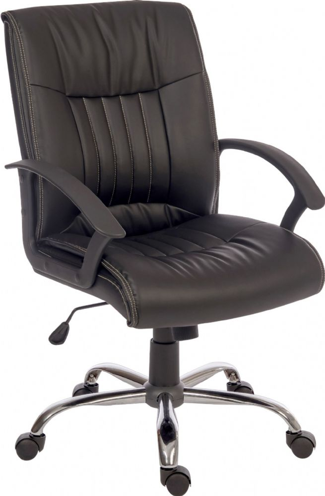 TEKNIK MILAN Executive Office Chair in Black Leather